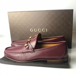 Gucci Nappa Moorea Strong Red Loafers G11